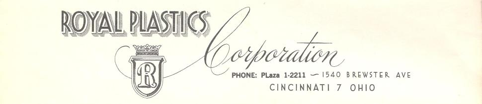 Royal Plastics (King) Letterhead